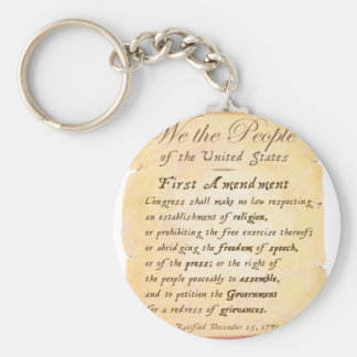 First Amendment Key Ring
