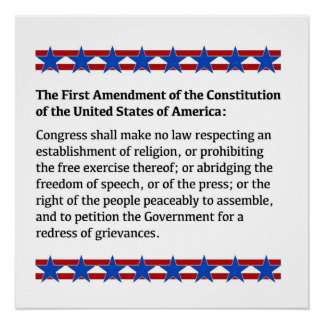 First Amendment Rights Poster