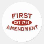 First Amendment Round Stickers