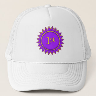 First and Best Badge Trucker Hat