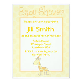 First Baby Shower - Yellow Card