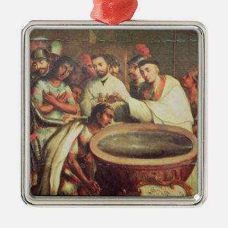 First Baptism of the Indians by the Dominicans Christmas Ornament