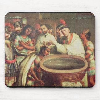 First Baptism of the Indians by the Dominicans Mouse Pad