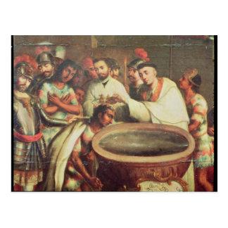 First Baptism of the Indians by the Dominicans Postcard
