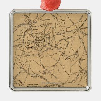 First Battle of Bull Run - Civil War Panoramic 5 Ornament