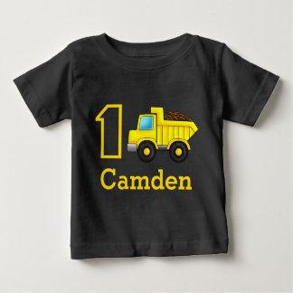 First Birthday 1st 2nd 3rd Construction Truck Car Baby T-Shirt