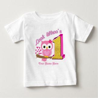 First Birthday Baby Shirt | Owl T-Shirts