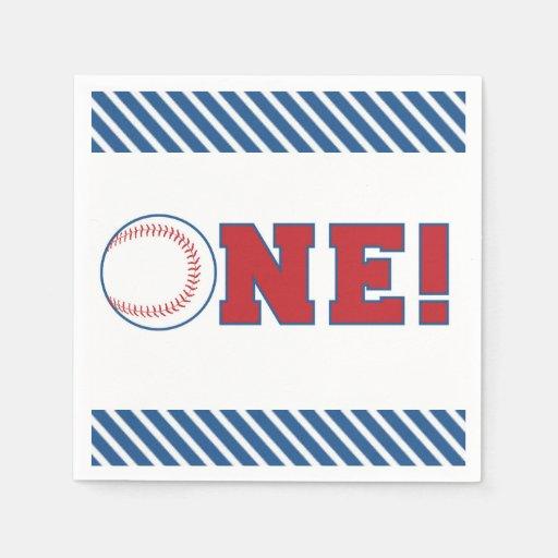 First Birthday Baseball Napkins Disposable Napkin