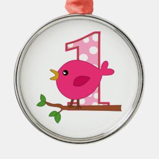 First Birthday Birdie Christmas Tree Ornament