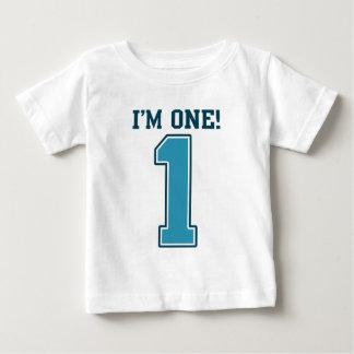 First Birthday Boy, I'm One, Big Blue Number 1 Shirts