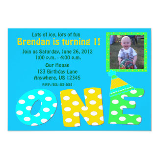 First Birthday Boy Invitation