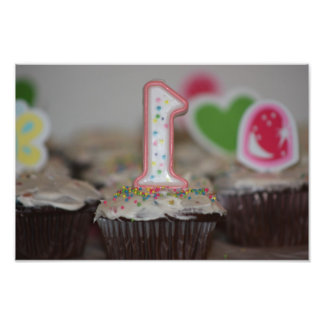 First Birthday Cake Photo Enlargement