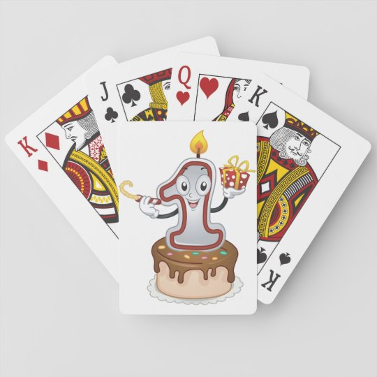 First Birthday Cake Playing Cards