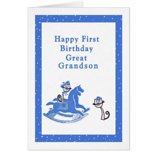 First Birthday Card Great Grandson