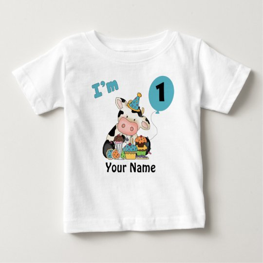 First Birthday Cow Baby T-Shirt