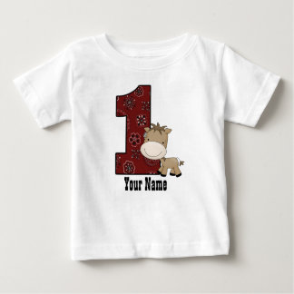 First Birthday Cowboy Horse Shirts
