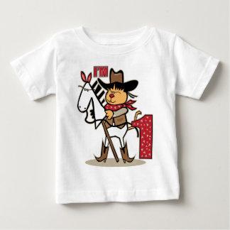 First Birthday Cowboy Stick Horse Age 1 Baby T-Shirt