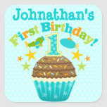 First Birthday Cupcake (Boys)