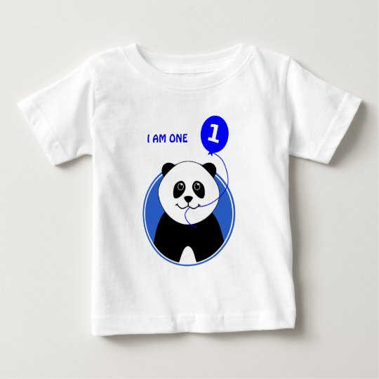 First birthday cute panda custom text baby T-Shirt