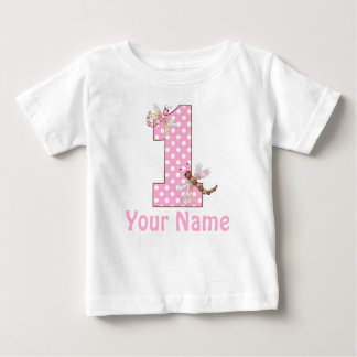 First Birthday Dragonfly Baby T-Shirt