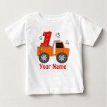 First Birthday Dump Truck Personalised Shirt