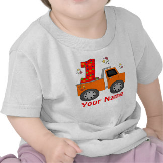 First Birthday Dump Truck Personalized Shirt