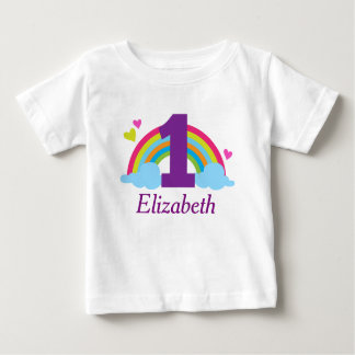 First Birthday Girls Rainbow Personalized T-shirt