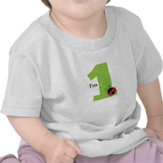 First Birthday I m One Cute ladybug T-shirt