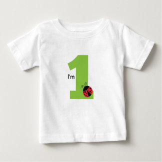 First Birthday, I'm One, Cute ladybug Baby T-Shirt