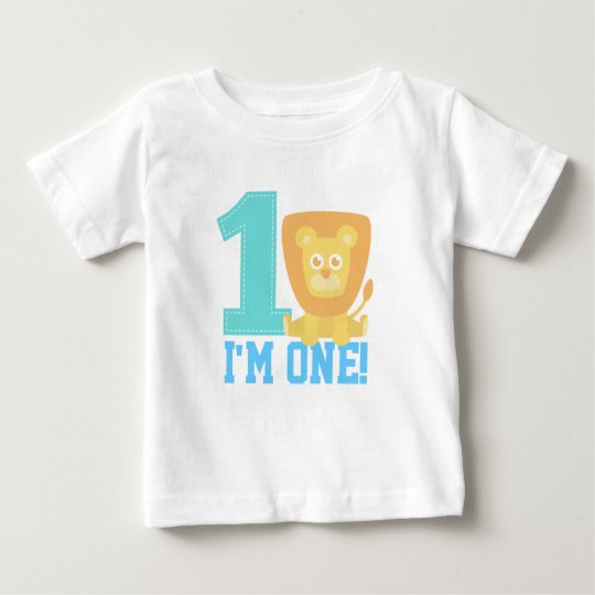 First Birthday, I'm One, Cute Lion Baby T-Shirt