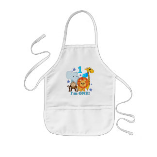 First Birthday Jungle Aprons