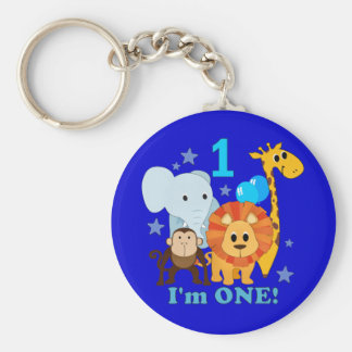 First Birthday Jungle Keychains