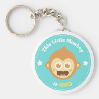 First Birthday, Little Monkey is One Key Chain