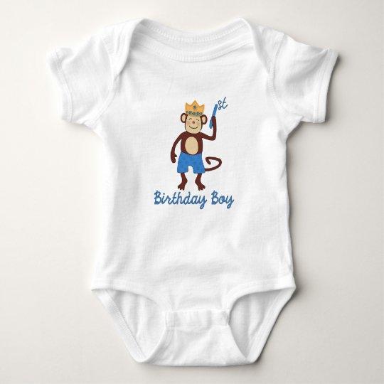 First Birthday Monkey Boy T Shirt