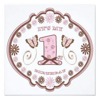 First Birthday Neapolitan Butterfly Card