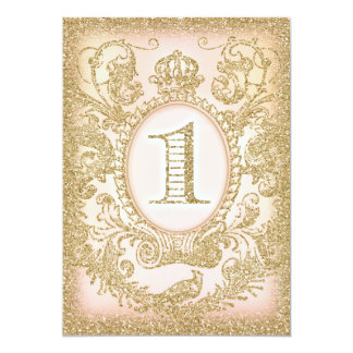 First Birthday Once Upon a Time Princess Peach 13 Cm X 18 Cm Invitation Card