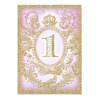 First Birthday Once Upon a Time Princess Purple 13 Cm X 18 Cm Invitation Card