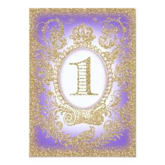 First Birthday Once Upon a Time Princess Purple 2 13 Cm X 18 Cm Invitation Card