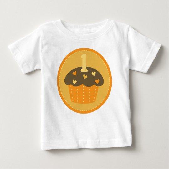 First Birthday One Cupcake Kids T-shirt