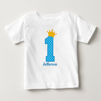 First Birthday Prince Tshirt Personalised