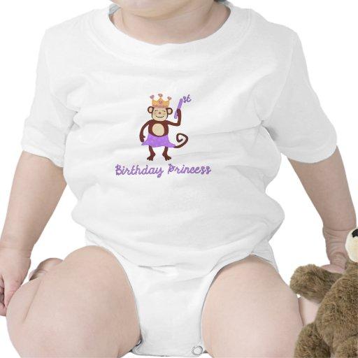First Birthday Princess Monkey T Shirt Zazzle