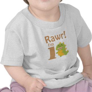 First Birthday Rawr I m 1 Cute Dino T-shirts