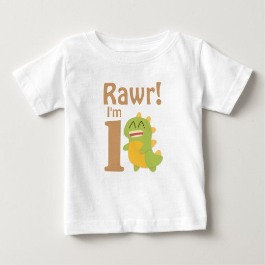 First Birthday, Rawr! I'm 1, Cute Dino Baby