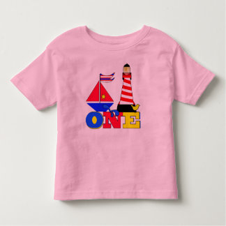 First Birthday Sailboat Toddler T-Shirt
