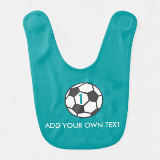 First Birthday Soccer Ball Bib