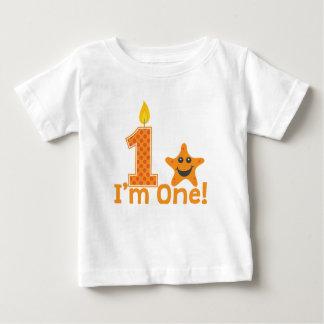 First Birthday Starfish Baby T-Shirt