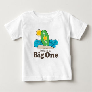 First Birthday Surfboard Surf Baby T shirt