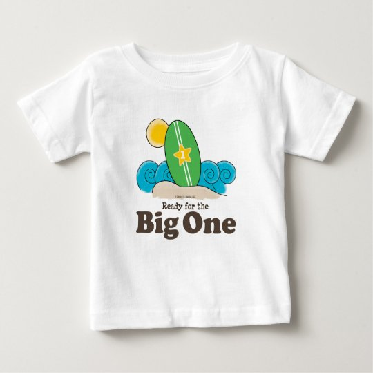 First Birthday Surfboard Surf Baby T shirt