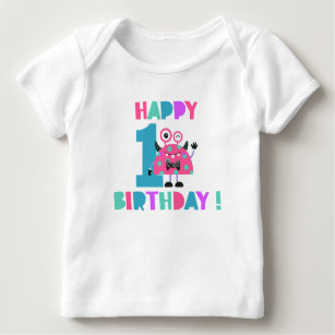 First Birthday T Shirt 1st