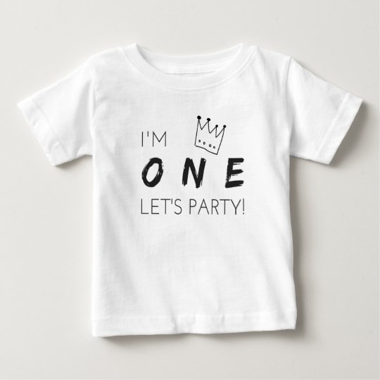 "First Birthday T-Shirt ""I'm ONE, let's party!"""